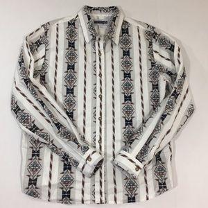 Women Panhandle Slim Pearl Snap Shirt Western M